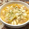 21/07/11 大豆とソーセージのキムチスープ