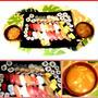 今夜は手抜きの定番お寿司を買って