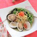 <レシピ>レタスと蛤(はまぐり)のだしが効いたパスタ
