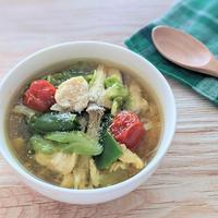 【レシピ】ちぎって&電子レンジで簡単!10分で完成!鶏肉と野菜の塩麹スープカレー