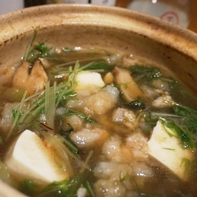 冬到来、芝海老つみれのはりはり鍋、〆の鍋焼きらーめんで一献