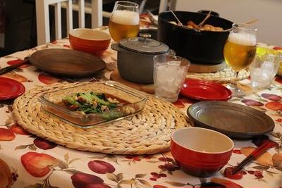 ル・クルーゼでおでん♪小松菜とミックスナッツの炒め物(レシピ)で♪秋のおうちのみ☆