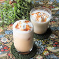おうちカフェ。簡単手作りチャイシロップで『 マサラ ティー ラテ』インド。