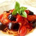 シンプルで簡単!ナスとトマトのスパゲッティ