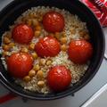 ◇ひよこ豆とトマトのジンジャーご飯◇