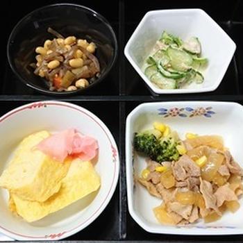 豚の生姜焼き他の弁当