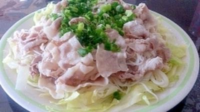 暑い夏にシャキッと旨い豚しゃぶ素麺
