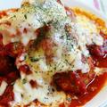 【簡単!】大豆入り肉団子のトマトソース♪たっぷりチーズがけ