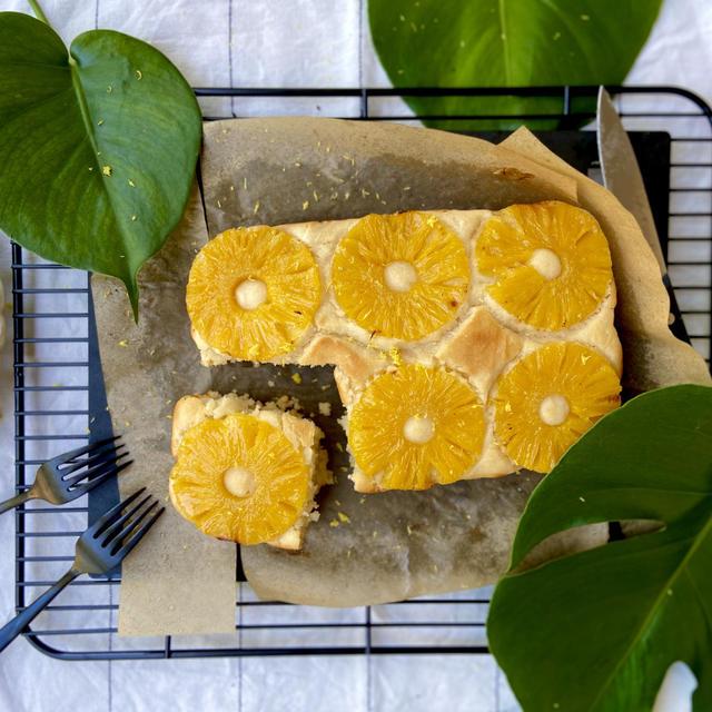 Veganレシピ。米粉とココナッツミルクの、ヴィーガンパイナップルケーキの作り方