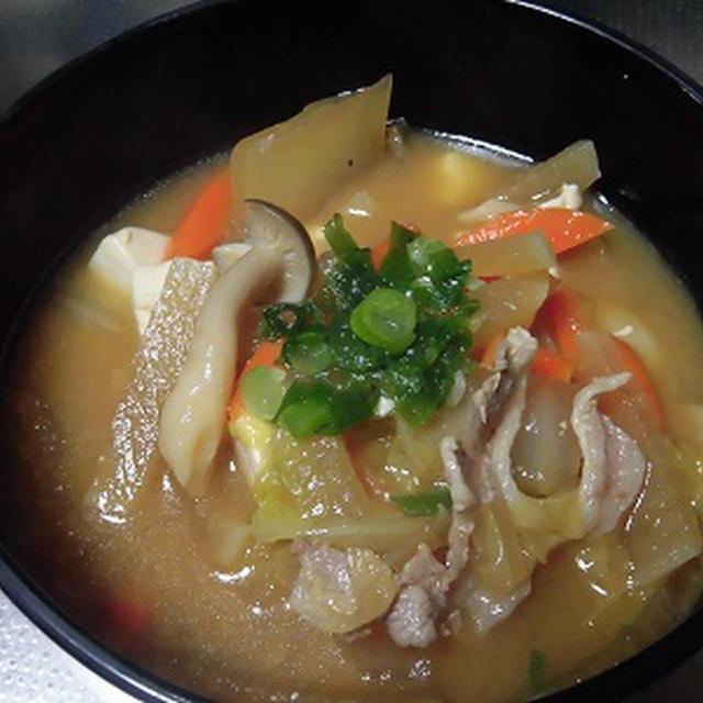寒かった今日は・・・豚汁・・我が家の夕ご飯~♪