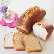 4月パンメニューはあまさけパウンド食パン。。。