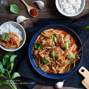 鶏と筍のパプリカココナッツ煮