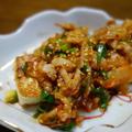 焼き豆腐の豚キムチ・あさりと豆腐の一人鍋