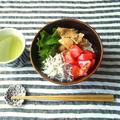 揚げの甘辛煮&残り物で、ぶっかけ素麺