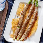 豚巻きアスパラのカリカリチーズ焼き【#簡単 #節約 #時短 #おつまみ #おもてなし #主食】