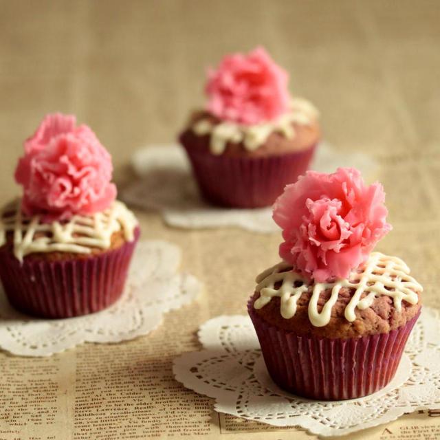 * 母の日♡ラズベリーショコラのカップケーキ♪