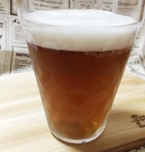 ビール風ドリンク♡「なんちゃって♪こどもビール(麦茶)」 《ゼラチン使用》