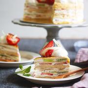 【見るだけケーキ】ひなのお誕生日ケーキ@2019。~フルーツミルクレープ~