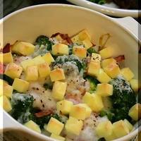 ◆こんがり焼けるチーズで、ブロッコリーの長芋グラタン♪