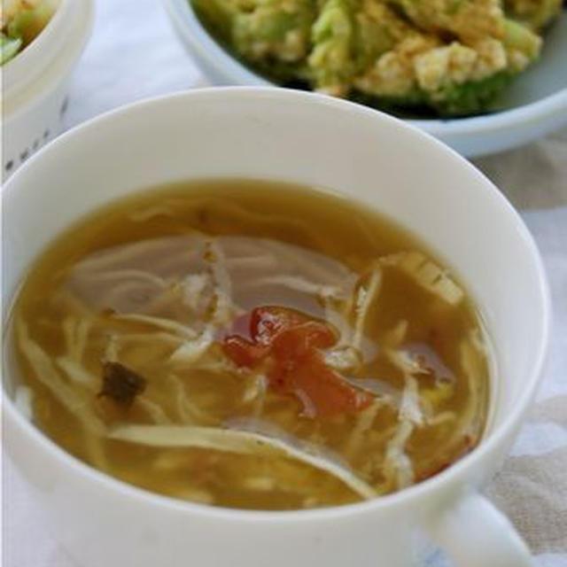 秒速ぽかぽか☆梅切り干しのジンジャースープ