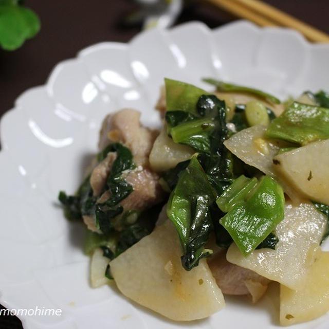 斬新極旨♪長芋と鶏肉のオーロラソース炒め