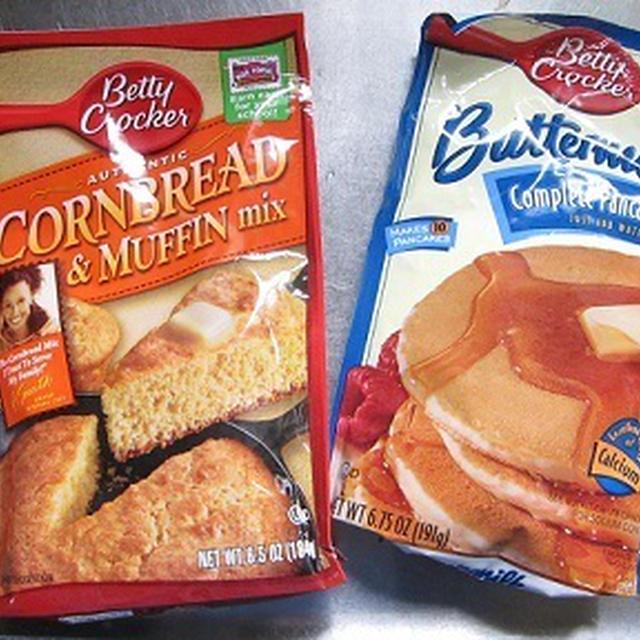 コーンブレッドmixとバターミルクパンケーキmix♪