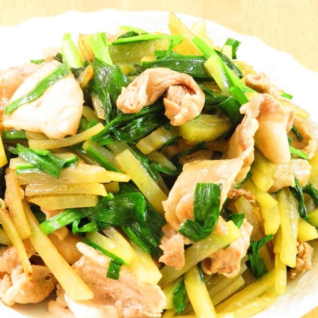 夏バテ予防☆豚とニラじゃがスタミナ焼き