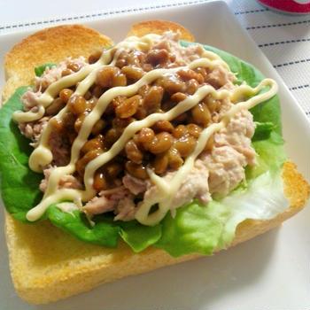 【なんとこれ、PASCOで紹介されてたレシピ】納豆+ツナ+パンを試してみた