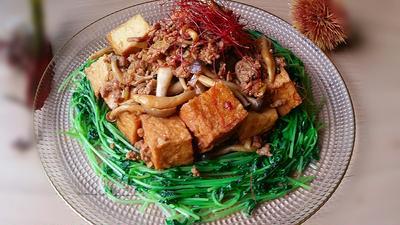 厚揚げのカレー麻婆豆腐