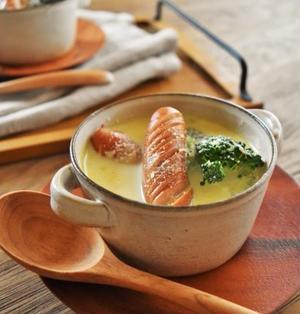 【おかずスープ】ソーセージとブロッコリーのカレーミルクスープ
