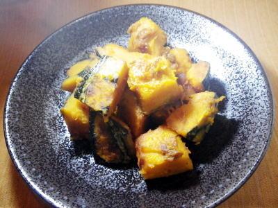 揚げかぼちゃの砂糖しょうゆ煮・料理レシピ