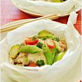 鮭と野菜のバルサミコチーズ蒸し / 30日の朝ごはん by Ayaさん