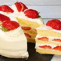 食べきりサイズ【いちごのショートケーキ】 by HiroMaruさん