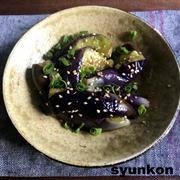 【簡単!!おすすめレンジレシピ】キレイな紫!やみつきナスと、ねぎとベーコンバターしょうゆライス