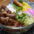 ◇芋焼酎で作る生姜焼きの弁当