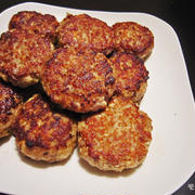 作り置きレシピ-豆腐ハンバーグ-お弁当の手作り冷凍食品♪