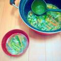 紫蘇の香り♪大葉入り中華スープ