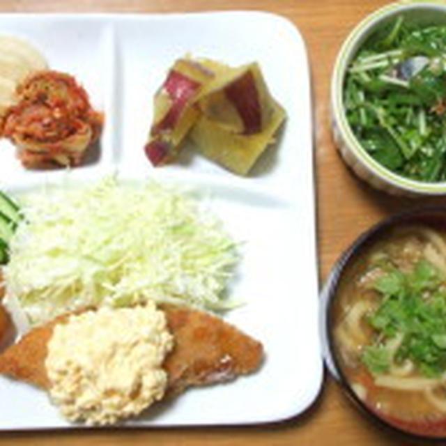 今日の晩ごはん★半額お惣菜★