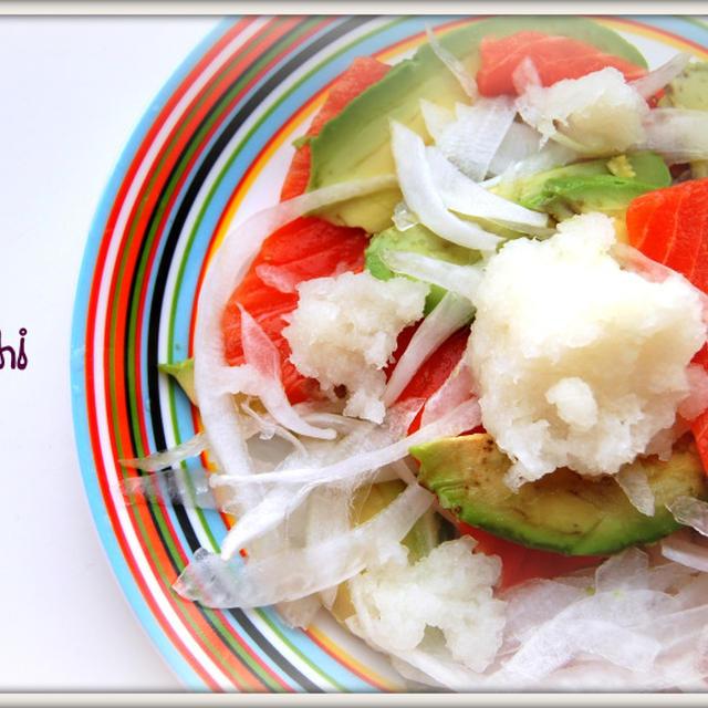 サーモン&アボカドのさっぱり美肌サラダ♪(レシピ)