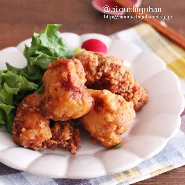 唐揚げのマンネリ対策♡鶏むね肉でしっとりオイマヨ唐揚げ♡