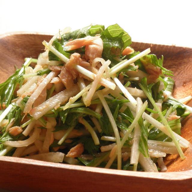 水菜と大根の和風サラダ☆