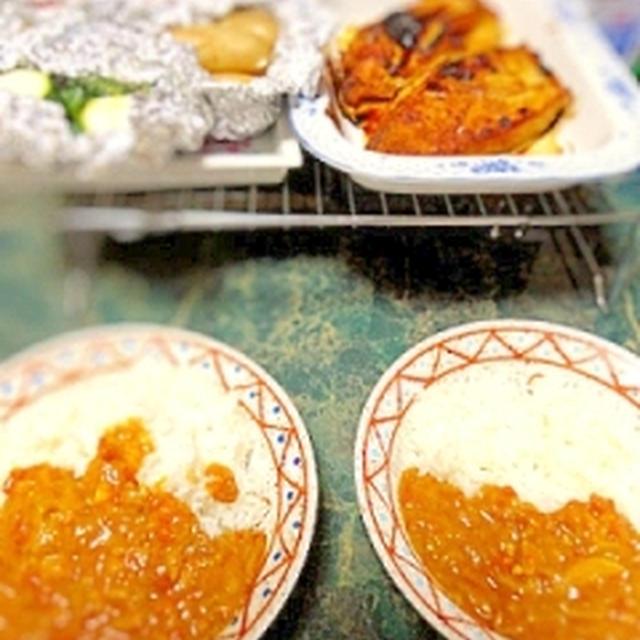 塩麹タンドリーチキンと食べる☆簡単☆煮込まないカレー
