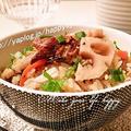 さんまの蒲焼き缶とレンコン☆炊き込みご飯 by ジャカランダさん