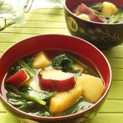 ほっくり食感で温まる!寒い日には「いも入り味噌汁」が合うんです♪