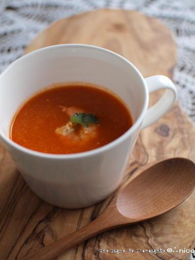赤のスープ。