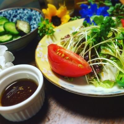 簡単☆焼き肉のタレでサラダドレッシング作り
