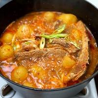 カムジャタンー豚肉とじゃがいものちょい辛スープー