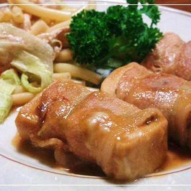 高野豆腐の照焼き+ちょっとごま油