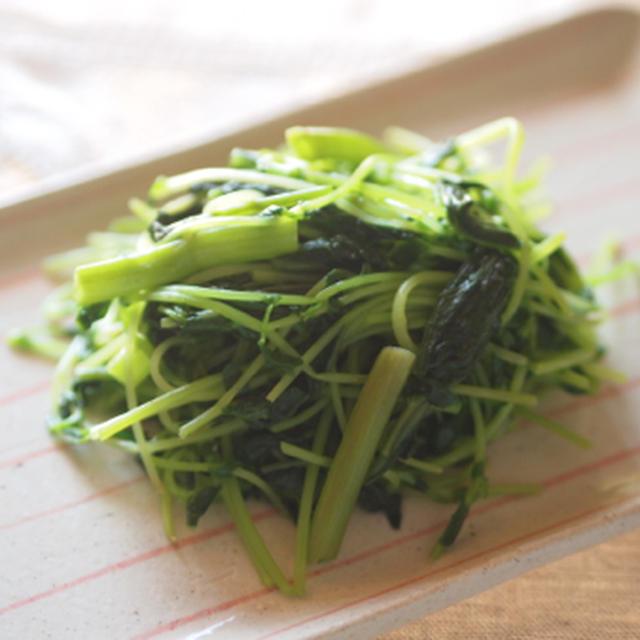 空心菜と豆苗のガーリックソテー(糖質オフレシピ)