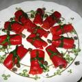 赤ピーマンのサラダ